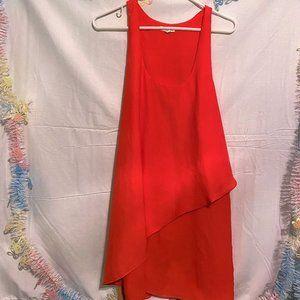 Silence & Noise Red Sleeveless Slinky Summer Dress